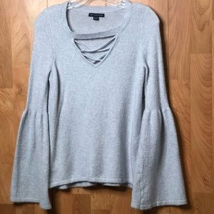 XS light light blue with bell sleeves